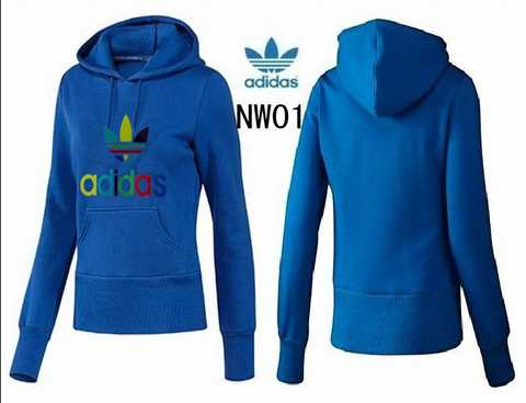 Hooded Adidas W Bleu adidas sweat Classic Mc Sweat Noir Fleece 1aXXW